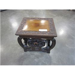 ORNATE CARVED END TABLE