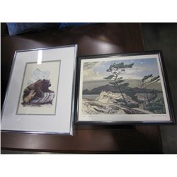 """GROUP OF SEVEN A.J.CASSON WHITE PIN AND SW COLEMAN """"THE BEAR NATIVE PRINT"""""""