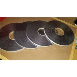 4 NEW ROLLS OF MAGNETIC STRIP 100 FT EACH WITH ADHESIVE BACK RETAIL $120