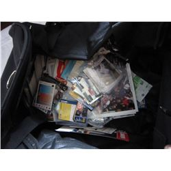TRAVEL BAG FULL OF SPORTS CARDS