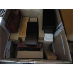 BOX OF MAGNETIC WOODEN CASES