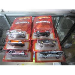 LOT OF HOT WHEELS VALENTINES CARS