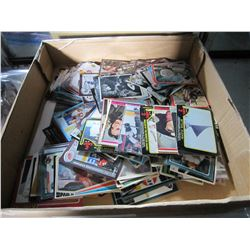 TRAY OF VINTAGE COLLECTOR CARDS - SOME HOCKEY, BATTLESTAR, CHARLIES ANGELS