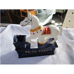 TRICK PONY IRON COIN BANK