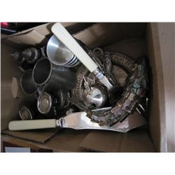 LOT OF SILVER PLATE, AND FISH AND PEWTER