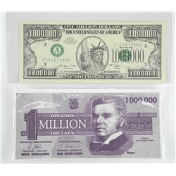 Lot (2) Million Dollar Fun Notes