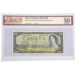 Bank of Canada 1954 $20.00 M.P B/R.