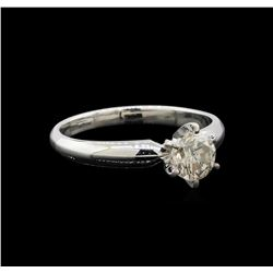 14KT White Gold 0.85 ctw Round Cut Diamond Solitaire Ring