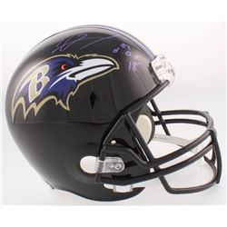 Ray Lewis Signed Ravens Full-Size Helmet Inscribed