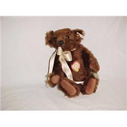 Steiff Bear Mr. Chocolate 10 in.