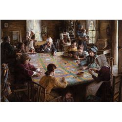 Morgan Weistling-The Quilting Bee, 19th Century Americana