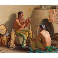 Joseph H. Sharp-The Bow and Arrow Makers
