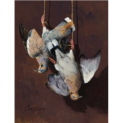 Ken Carlson-Still Life with White Winged Dove