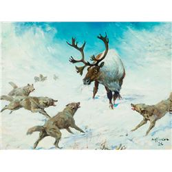 Frank Hoffman-Wolves and Caribou
