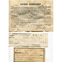 LOT OF *OLD* RECEIPTS & AGREEMENT (1940s-1950s; QTY 7)