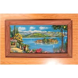 """CHINESE PRINT ART IN FRAME *31"""" X 18""""*"""