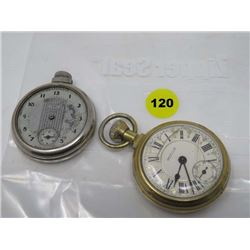 POCKET WATCH (WESTCLOX) *QTY 2* (1 IS FOR PARTS)