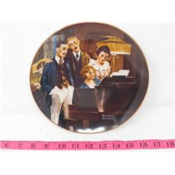 COLLECTOR PLATE (BRADFORD EXCHANGE) *CLOSE HARMONY* (5TH IN ROCKWELL'S LIGHT CAMPAIGN SERIES)