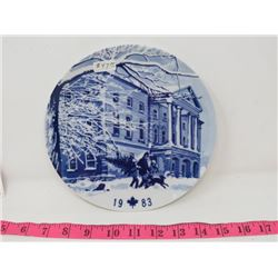 COLLECTOR PLATE (CANADA CHRISTMAS PLATE 1983) *MADE IN GERMANY*