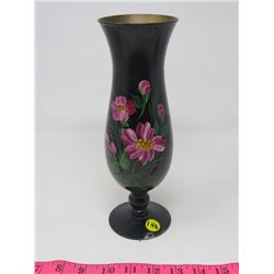 """GLASS VASE (HAND PAINTED) *10.25""""T*"""
