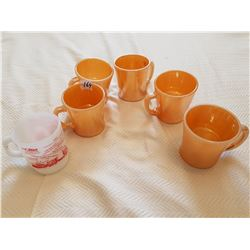 COFFEE CUPS *FIRE KING* (ANCHOR HOCKING TYPE) *QTY 6*