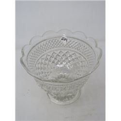 BOWL ON PEDESTAL (TALL ANCHOR HOCKING GLASS)