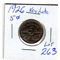 1926 FIVE CENTS *KEY DATE*