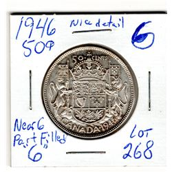 1946 50 CENT PC *PART FILLED 6 NEAR DATE*