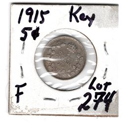 1915 SILVER 5 CENT PIECE *KEY DATE*