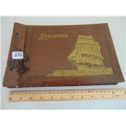 PHOTO ALBUM W/SAILING SHIP COVER (VINTAGE) *GREAT DISPLAY*