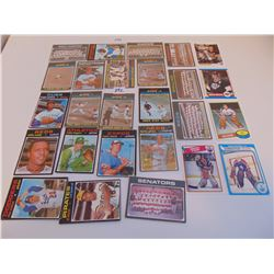 LOT OF 20 1970s BASEBALL CARDS & 4 HOCKEY