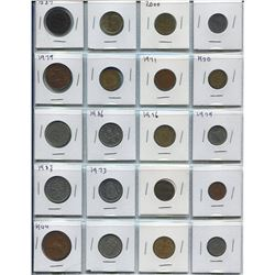 BINDER OF MOSTLY FOREIGN COINS (QTY 60)