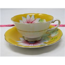 TEA CUP AND SAUCER (TRIMONT CHINA) *HAND PAINTED OCCUPIED JAPAN*