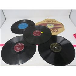 LOT OF 5 33 1/3 RECORDS (APEX, PLYMOUTH, VICTOR, BLUEBIRD) *ONE IS BROKEN*