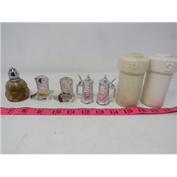LOT OF 7 SALT AND PEPPER SHAKERS