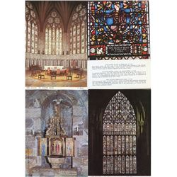 LOT OF POSTCARDS (ENGLISH CATHEDRALS) *INTERIOR/EXTERIOR*
