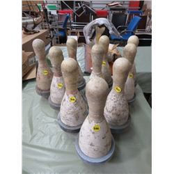 LOT OF 10 BOWLING PINS *SPORTSMAN BOWL, PRINCE ALBERT*