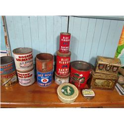 LOT OF 14 ACCORTED COLLECTOR TINS