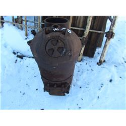 """CAST HEATER (24"""" H, 14"""" W,) *#40 BRICK LINED* (SPENCER FOUNDRY CO. , PENETANG, ON)"""