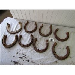 LOT OF 8 HORSE SHOES