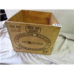 BUTTER BOX (WOODEN) *VERY NICE CONDITION*