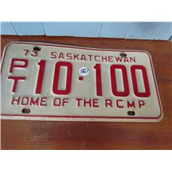 1973 RCMP TRAILER PLATE *10-100*