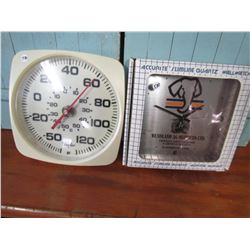THERMOMETER (TAYLOR) & CLOCK (WENDLAND AG)