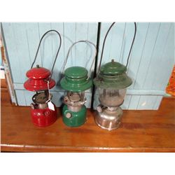 LOT OF 3 COLEMAN LAMPS (321B, 237A, 200) *AS IS*
