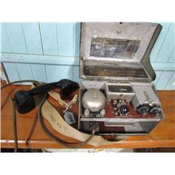 FIELD TELEPHONE (WWII) *DATED 1940, COMPLETE*
