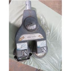 *VINTAGE* 2-HEAD PARKING METER TOP (W/REPLACEMENT PLASTIC COVERS)