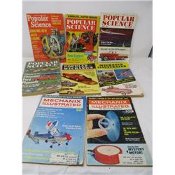 LOT OF 8 MAGAZINES (5 POPULAR SCIENCE, 3 POPULAR MECHAINCS) *1950s*