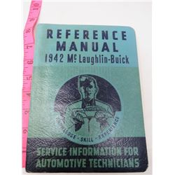 REFERENCE MANUAL (MCLAUGHLIN-BUICK) *1942*