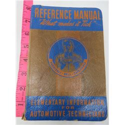REFERENCE MANUAL (ELEMENTARY INFORMATION FOR MECHANICS)