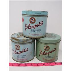 LOT OF 3 TOBACCO TINS (PLAYERS)